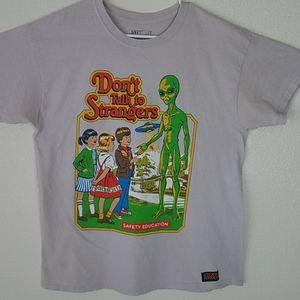 Dont Talk To Strangers Steven Rhodes Alien Tshirt